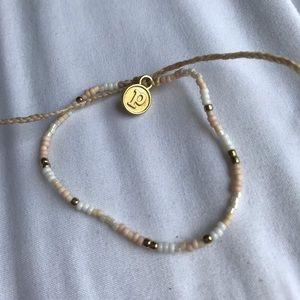 Pura vida seed bead bracelet